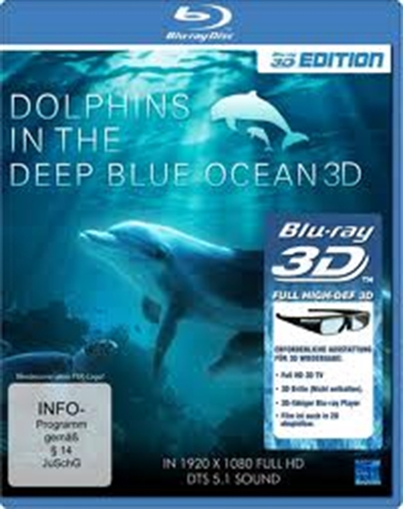 Picture of Dolphins In The Deep Blue Ocean 3D