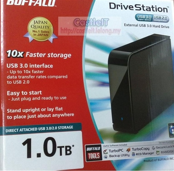 Picture of Buffalo DriveStation Hard Drive 1 TB - USB3 (Electricity)