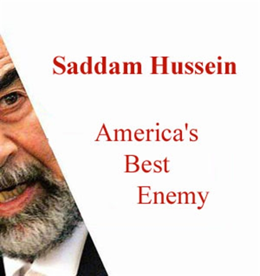 Picture of Saddam Hussein America's Best Enemy